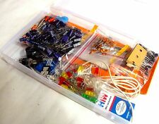 ELECTRONIC COMPONENTS BREADBOARD,CAPACITOR,RESISTOR,LED,SWITCH-PROJECT KIT  by G