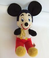 WDP Mickey Mouse Plush 10in Disney Doll Character 1960s California Stuffed Toys