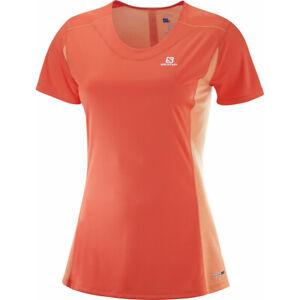 SALOMON AGILE HEATHER TEE, Women's Short Sleeve Orange Sports T-Shirt