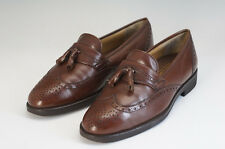 Authentic BURBERRY Men's Loafer 25.5cm Brown Tassel Wing Tip Free Ship 920f09