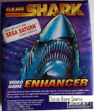 NEW SEALED SEGA SATURN GAME SHARK VIDEO GAME ENHANCER MEMORY CARD CHEATS CODES