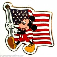 WDW Mickey Mouse Carrying the American Flag Pin