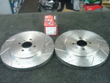 ROVER MGF MG-TF TROPHY BRAKE DISC DRILLED GROOVED BRAKE DISC MINTEX PAD FRONT