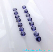 Lot of  Natural Iolite,Labradorite and Rainbow Moonstone  4x4 MM Round Cut Loose
