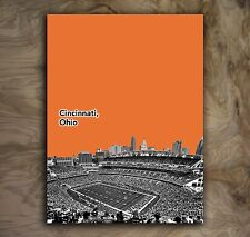 Cincinnati Bengals Sports Poster NFL Art Print Rare Hot New 12x16""