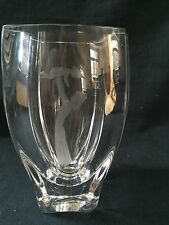 Signed and Labelled Skruf Glass Vase (ref P646)