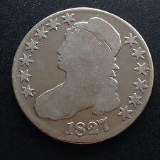 Estados unidos 1827 capped Bust half dólares 50 centavos filadelfia rara vez plata 2108