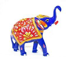 Handmade Metal Meenakari painting Art Elephant Statue Sculpture Home Decor Gift