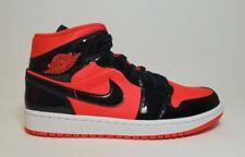 Nike Air Jordan 1 Mid Women's Hot Punch Black Size 11 BQ6472-600 Shoes Sneakers