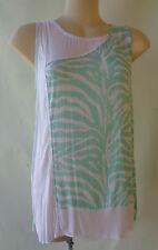 NEW Kita Ku sleeveless top size 12 NWT mint white print