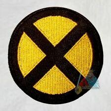 X-men Black & Yellow X Logo Embroidered Patch Marvel Comics Xavier School Jean