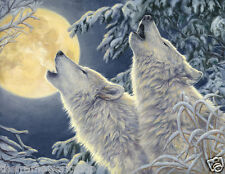 MOON LIGHT WOLVES - 3D MOVING PICTURE 400mm x 300mm (NEW)
