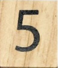 INDIVIDUAL WOOD SCRABBLE TILES! 8 FOR $2, OR 25 CENTS PER TILE. NUMBER 5 five