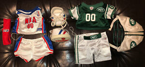 Build a Bear NBA outfit & Jets Football jersey with helmet