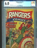 Rangers Comics 57 CGC 6.0 Incredible Firehair colors cover fiction house 1951
