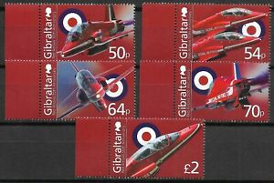 "GIBRALTAR - 2014 MNH ""50th Anniversary Of RED ARROWS"" Complete Set (A) !!!!"