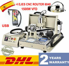 Usb 4axis Cnc 6040z Router Mini Cnc Engraving Diy Cutting Machine 15kw Vfd Rc