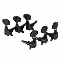 Black Guitar Tuning Pegs Tuners Machine Heads 3L 3R SZHKDR