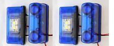 4x LED AZUL TRASERA Número De Matrícula Luces Lámparas Camión Remolque Van
