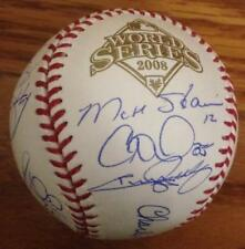 2008 Phillies Team Autographed 2008 World Series Ball Absolutely Beautiful.