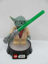 "Star Wars Yoda 6"" Figure LED LITE Desk Lamp Style 2, LEGO 2013 Lucasfilm"