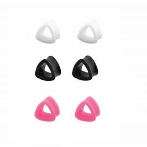 Pair of Silicone Triangle Design Ear Plugs 8ga- 11/16