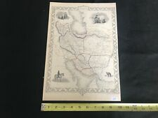 Antique PERSIA Map J&F Tallis, J. Rapkin, 1851. KURDS