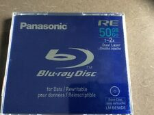 2X PANASONIC BLURAY DISC BD RE 50GB FOR DATA /REWRITABLE