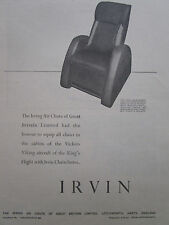 4/1947 PUB IRVING AIR CHUTE IRVIN CHAIRCHUTE PARACHUTE VIKING KING'S FLIGHT AD