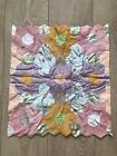 Vintage Patchwork Grandmothers Garden Hexagon Flowers Honeycomb Cushion Covers