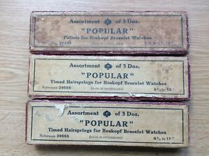 Vintage Roskopf Watch Parts Pallets Hairsprings From Watchmakers Collection