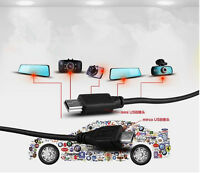 Pro 12V to 5V Hard Wire Adapter Cable MIni USB Micro USB For Car DVR Camera Pop