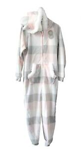 Asda George Childrens Check Hooded Pyjamas with Ears Age 2 to 14 yrs