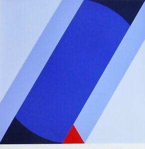 FRIEDRICH GEILER Geometric Composition 1991 HAND SIGNED SERIGRAPH German Artist
