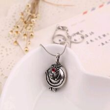 Vampire Diaries Elena Vervain Antique Silver Pendant Locket Necklace USA Seller