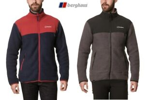 Berghaus Mens Syker Full Zip Durable Mid-Layer Warm Fleece Jacket, Free Delivery