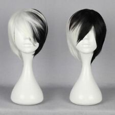 2018 White Short Wig Anime Cosplay Cruella DeVille synthetic Wig