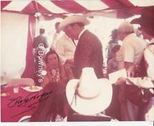 Roy Rogers & Iron Eyes Cody Signed Original Color Photo Candid
