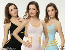 Munafie Tops Camisole Abdomen Fat Burning Clothes Clothing Vest Girdle(Pink)
