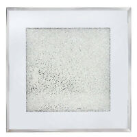 Sparkle Diamond Crush Glass Mirrored Candle Plate Tealight Place Mat Holder Tray