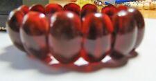 Bakelite Panel Bracelet 35g Art Deco Cherry Amber