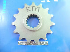 MOTO KTM ENDURO CROSS 125 GS MX 4T PIGNONE CATENA MOTORE SPROCKET CHAIN Z15