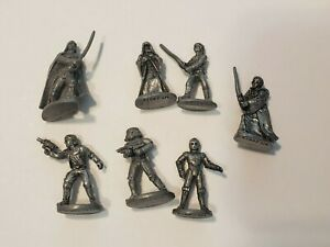 Star Wars 1997 Monopoly Classic Trilogy 7 Pewter Character Tokens Game Parts