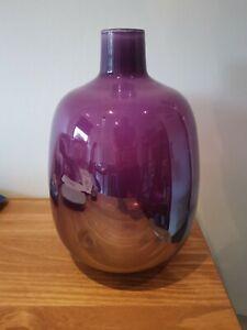 Aubergine Lustre Recycled Glass Osaka Bottle - BNIB