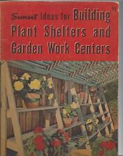Mid century plant shelter & garden work centers sunset magazine 1951 clean! sc