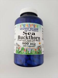 Vitamins Because Sea Buckthorn Emulsified Dry 900 mg 200 Capsules
