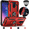 For Samsung Galaxy A6 2018 Magnetic Support Metal Ring Stand Case+Tempered Glass