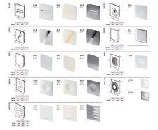 Bathroom Extractor Fan 100mm / 125mm with Modern Front Panel Kitchen Ventilators
