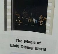 Magic Of Walt Disney World 1972 Authentic Film 5-Cell Strip FANTASY IN THE SKY