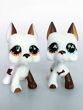 2 pcs Hasbro Littlest Pet Shop Collection LPS Toys Great Dane Dogs Figure